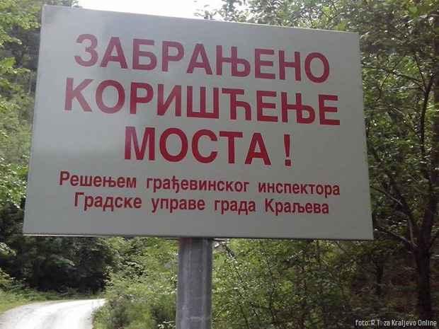Bresnik most zabrana