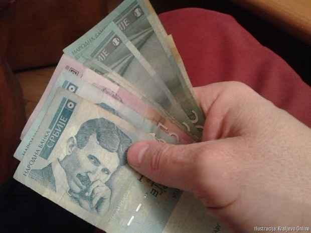 Novac u ruci ilustracija