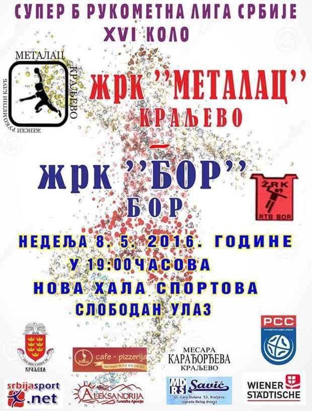 ŽRK Metala - Bor poster
