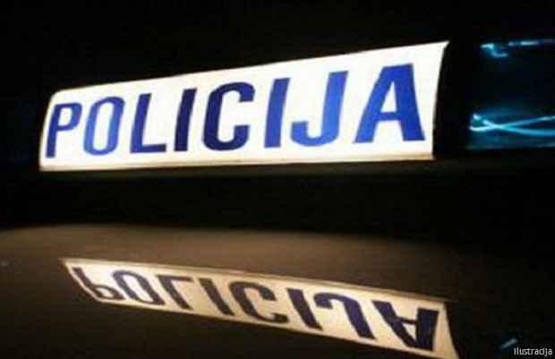 Policija noć tabla vozilo