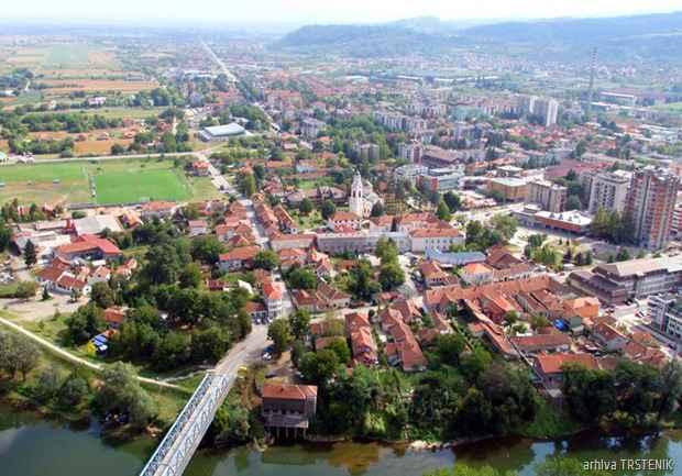 Trstenik panorama iz vazduha
